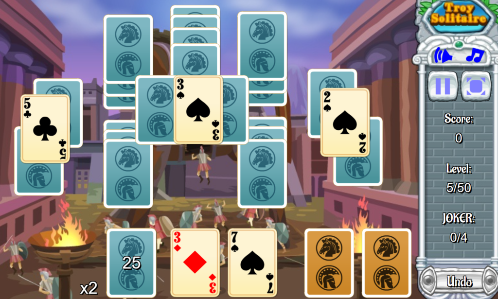 Troy Solitaire Gameplay